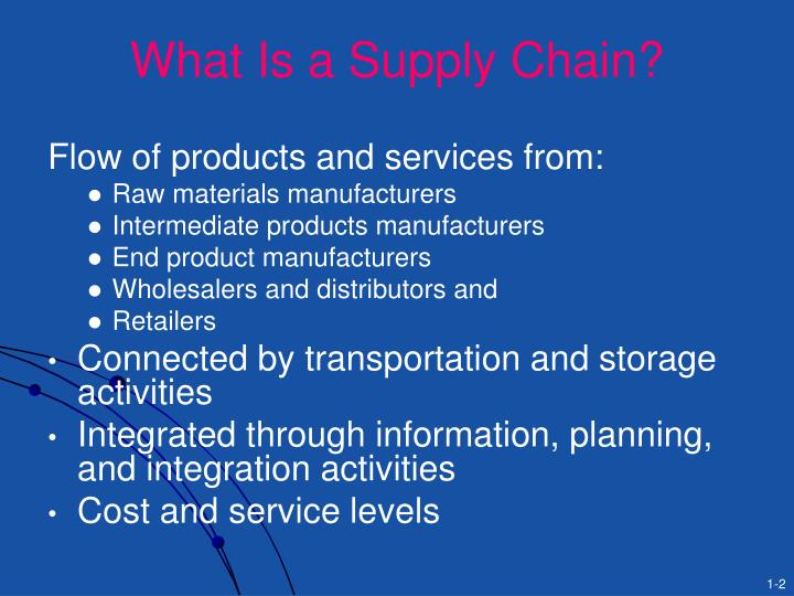 What Is a Supply Chain?