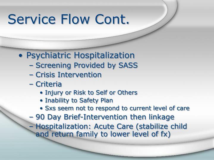 Service Flow Cont.