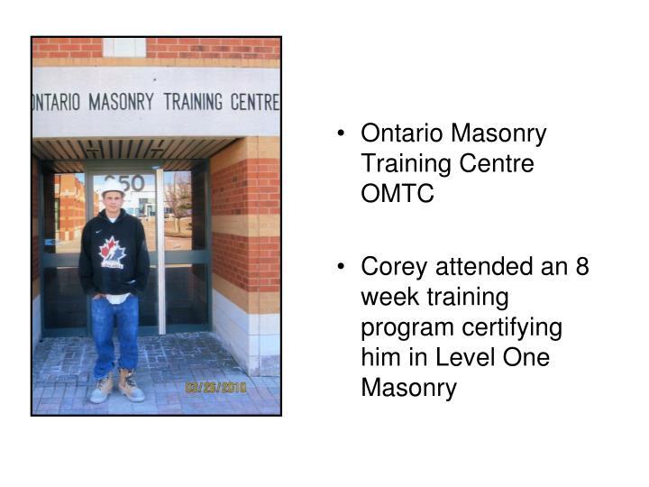 Ontario Masonry Training Centre OMTC