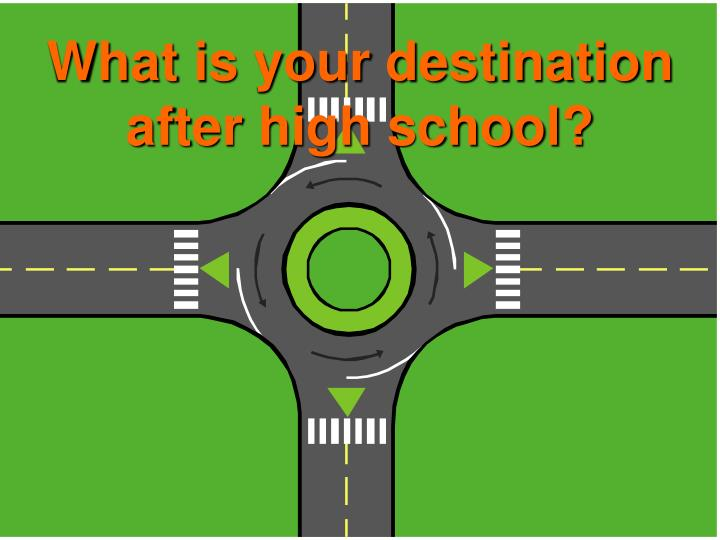 What is your destination after high school?