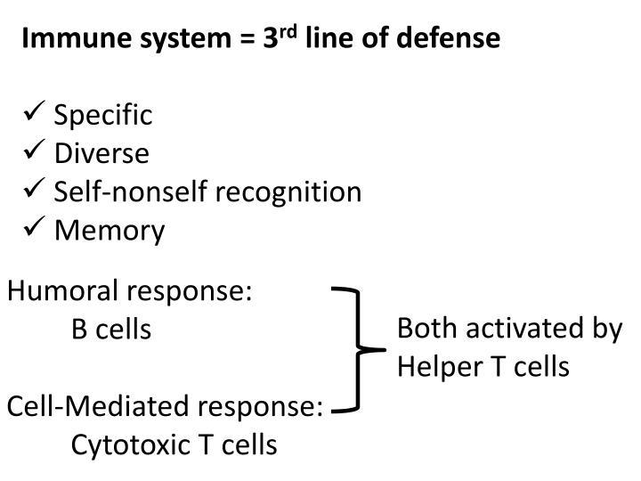 Immune system = 3