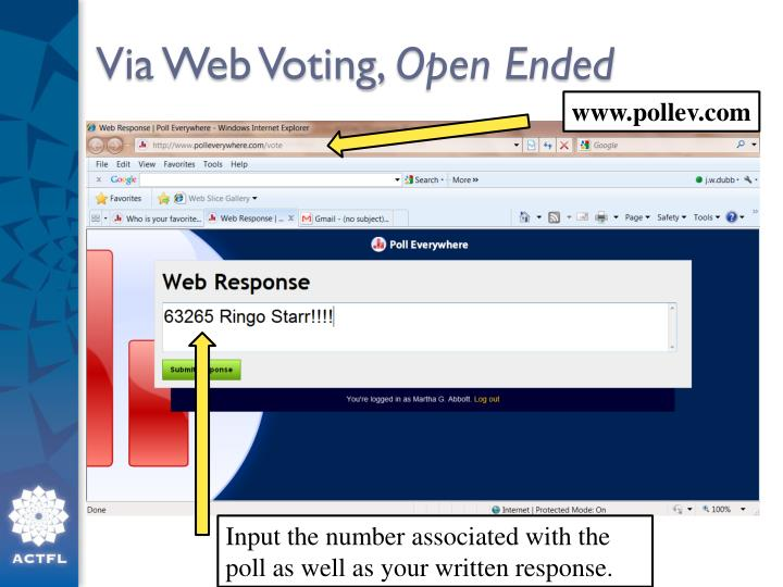 Via Web Voting,