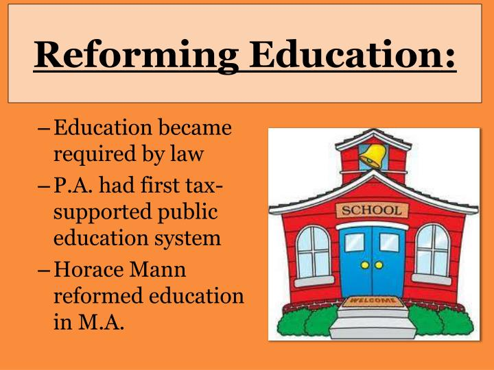Reforming Education: