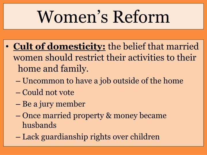 Women's Reform