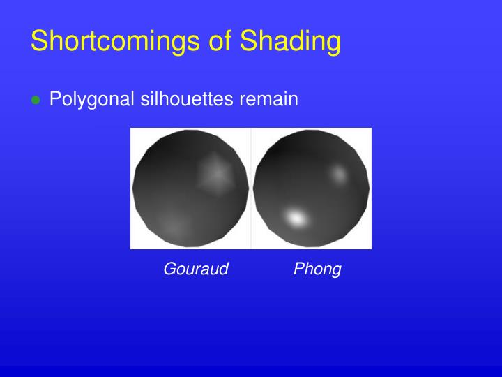 Shortcomings of Shading