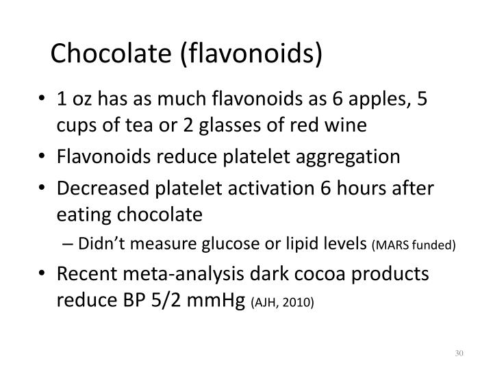 Chocolate (flavonoids)