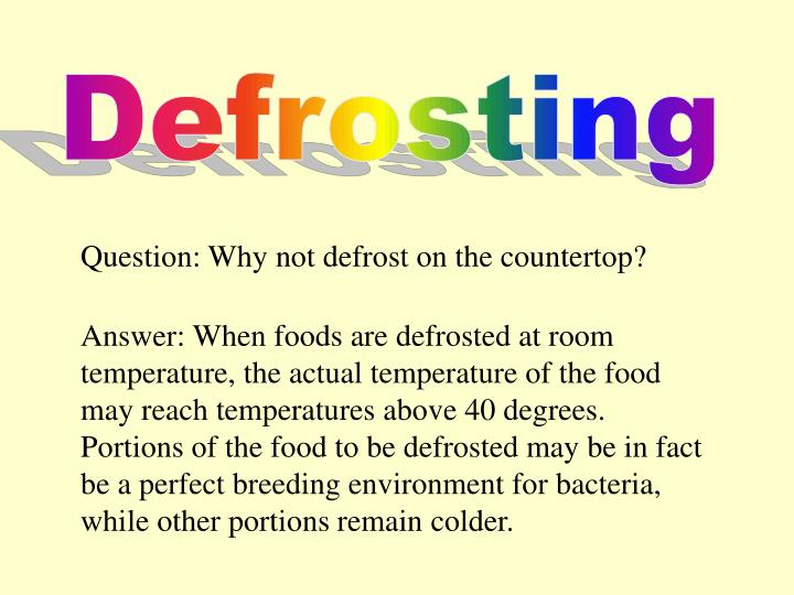 Defrosting