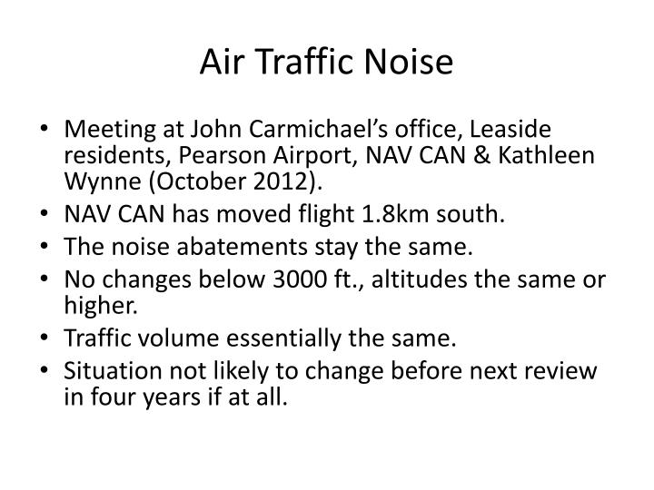 Air Traffic Noise