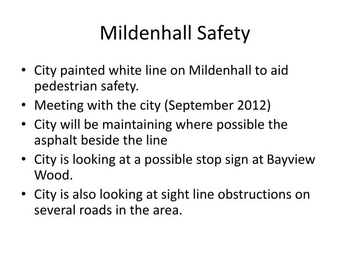 Mildenhall safety
