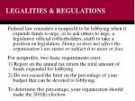 legalities regulations
