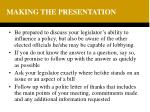 making the presentation1