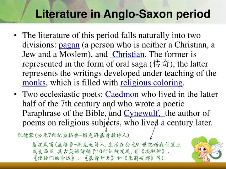 Literature in Anglo-Saxon period