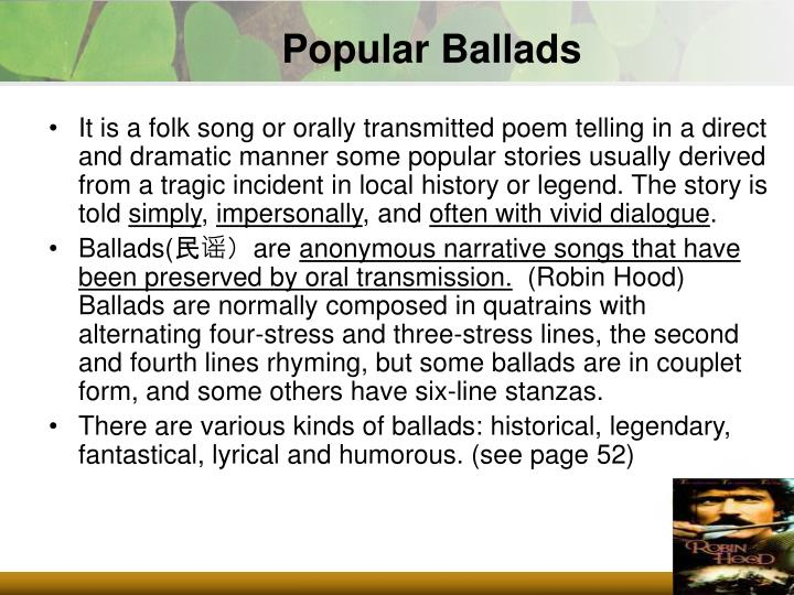 Popular Ballads