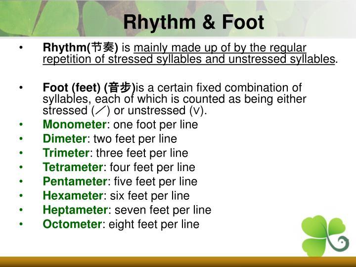 Rhythm & Foot