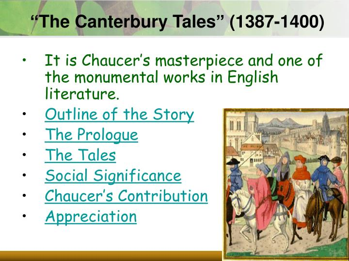 """The Canterbury Tales"" (1387-1400)"