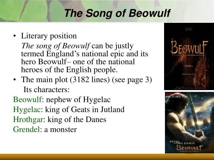 The Song of Beowulf