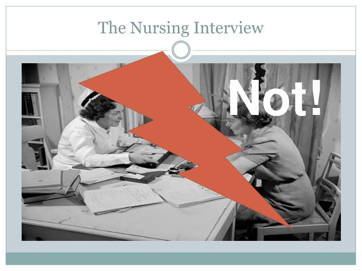 The nursing interview