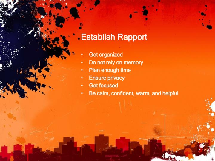 Establish Rapport