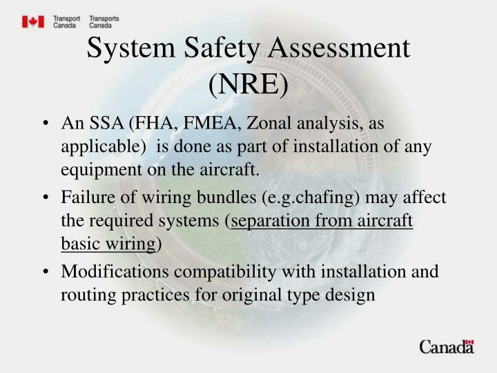 System Safety Assessment (NRE)