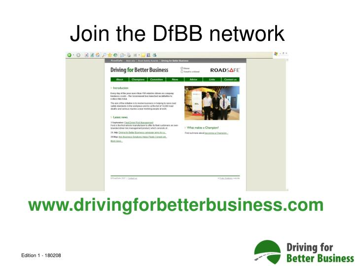 Join the DfBB network