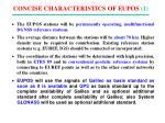 concise characteristics of eupos 1