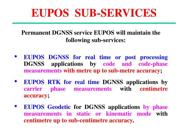 EUPOS  SUB-SERVICES