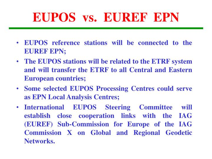 EUPOS  vs.  EUREF  EPN