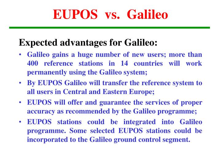 EUPOS  vs.  Galileo
