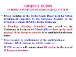 project eupos european position determination system