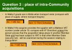 question 3 place of intra community acquisitions
