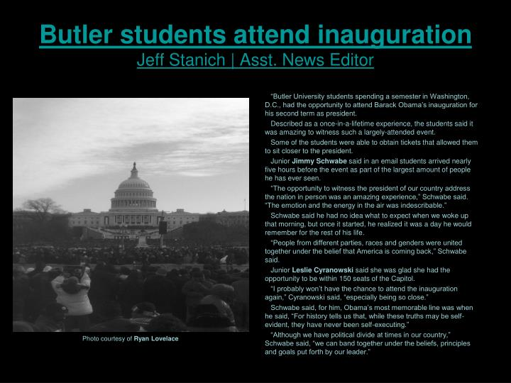 Butler students attend inauguration