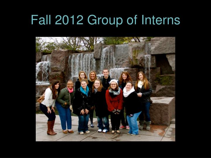 Fall 2012 Group of Interns