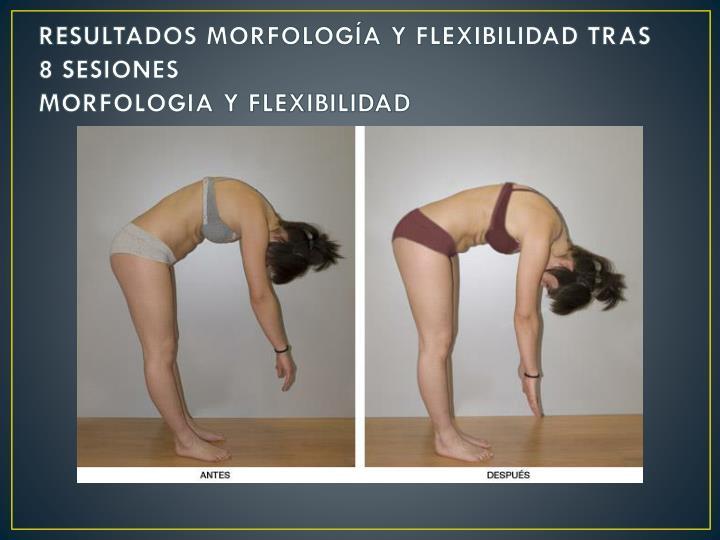 RESULTADOS MORFOLOGÍA Y FLEXIBILIDAD TRAS 8 SESIONES