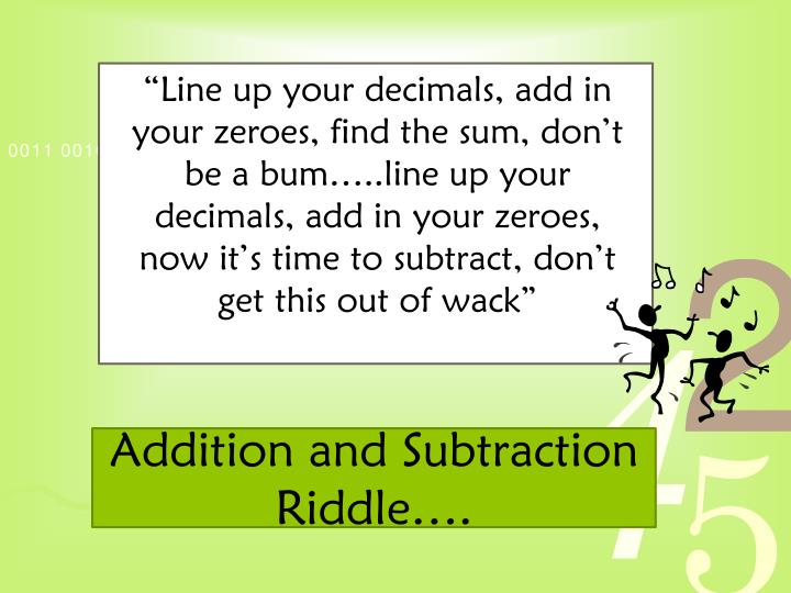 Addition and Subtraction Riddle