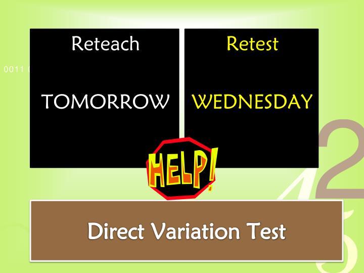 Direct Variation Test