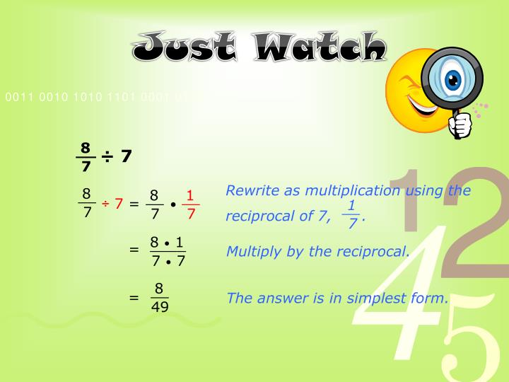 Rewrite as multiplication using the
