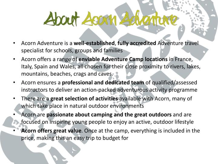 Acorn Adventure is a