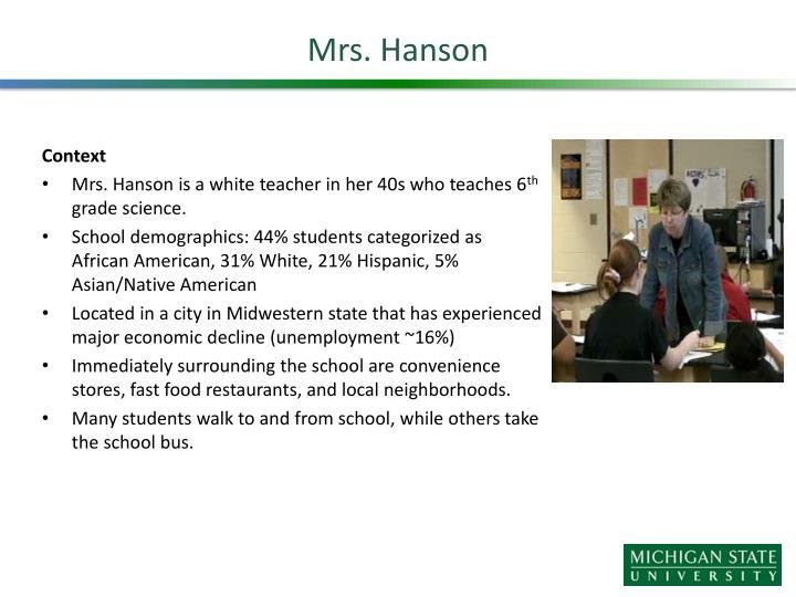 Mrs. Hanson