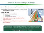 overview of lesson putting it all into play