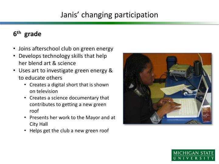 Janis' changing