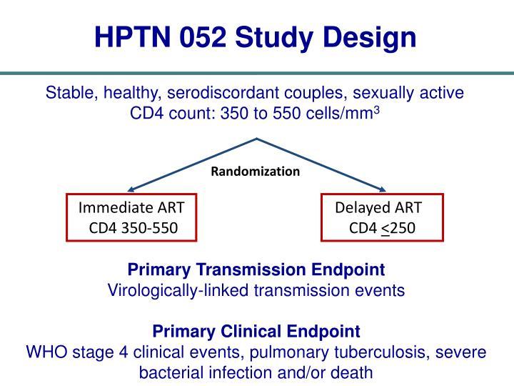 HPTN 052 Study Design
