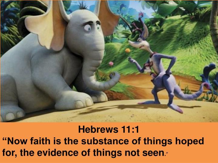 Hebrews 11:1
