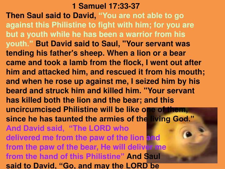 1 Samuel 17:33-37