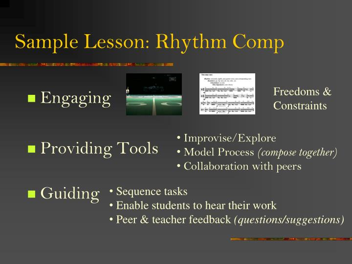 Sample Lesson: Rhythm Comp
