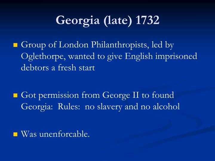 Georgia (late) 1732
