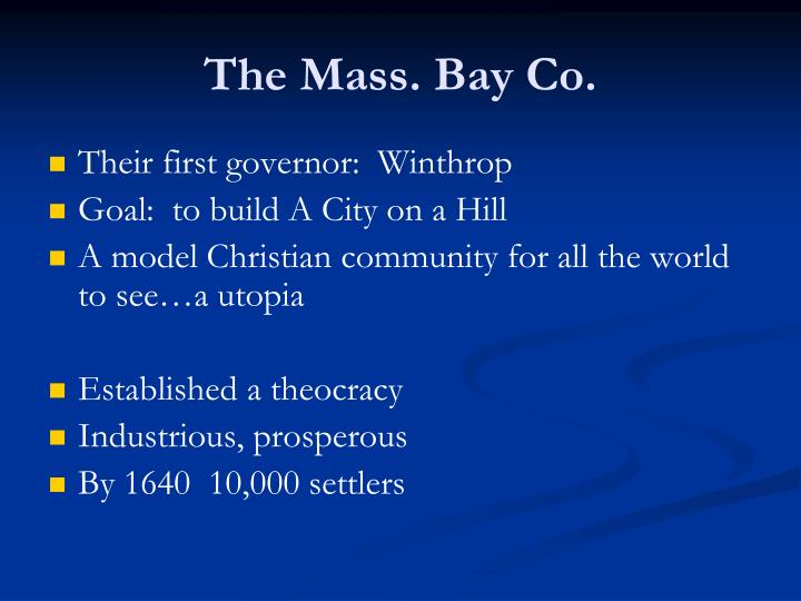 The Mass. Bay Co.
