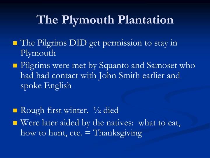 The Plymouth Plantation