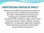 pa stwowa inspekcja pracy