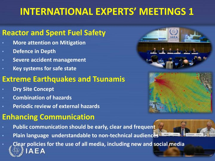 INTERNATIONAL EXPERTS' MEETINGS 1