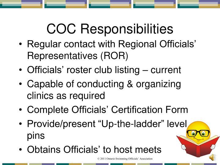 COC Responsibilities
